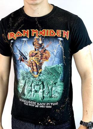 Мерч футболка британской хеви-метал-группы iron maiden