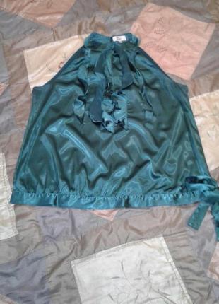 """Блузка """" изумрудная """" большого размера"""