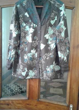 Легкая котоновая блузка большого размера
