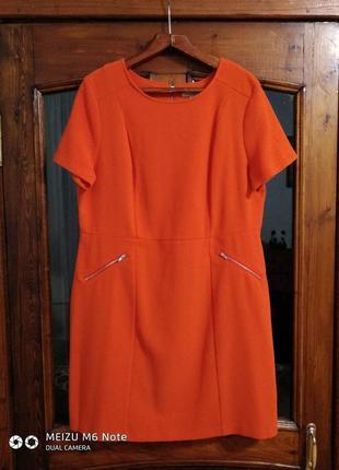 """Стильное платье """" апельсинка """" большого размера"""
