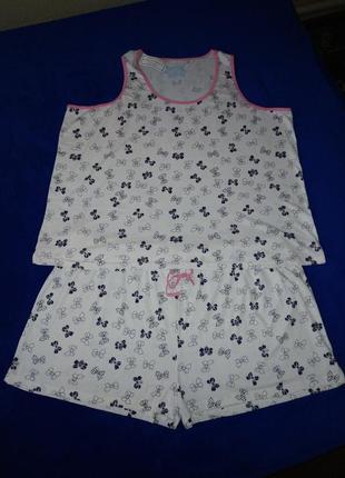 """Новая летняя пижама """" бантики """" большого размера 30"""