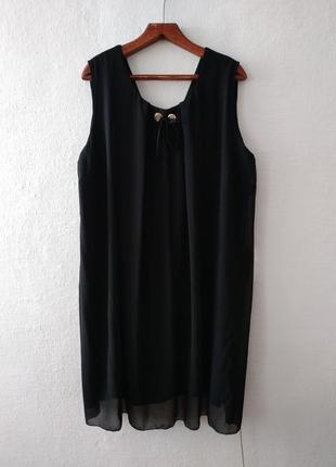 Стильное шифоновое платье большого размера