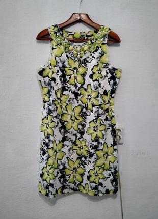 Стильное яркое летнее платье большого размера