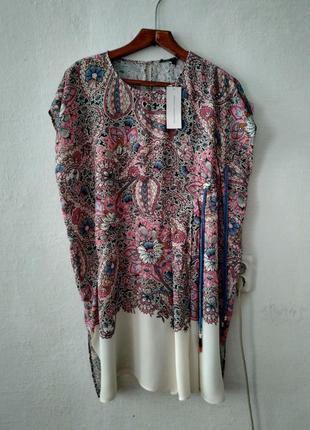 Стильная удлиненная блуза большого размера