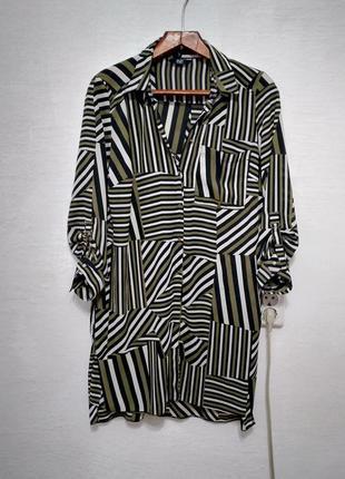 """Удлиненная блуза """" абстракт """" большого размера"""