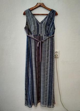 Стильное легкое шифоновое платье большого размера