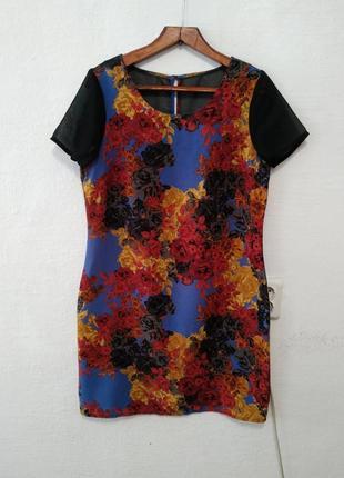 Легчайшее шифоновое платье большого размера