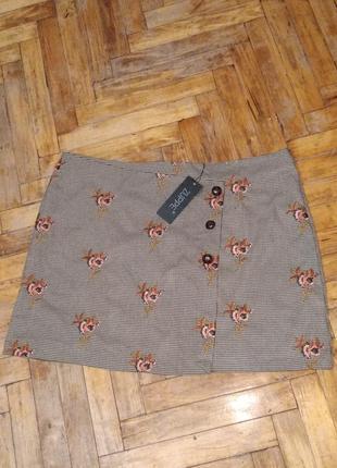Стильная юбка с вышивкой большого размера