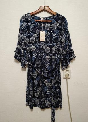 """Стильное платье """" васильковое""""  большого размера"""