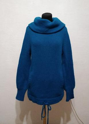 "Теплый зимний свитер "" бирюза "" большого размера"