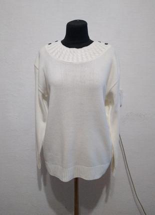 """Стильный свитер """" белоснежка """" большого размера"""