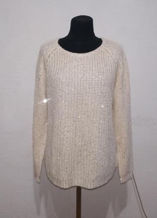 """Стильный свитер """" стразик """" большого размера"""