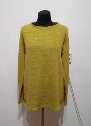 Стилтный теплый свитер большого размера