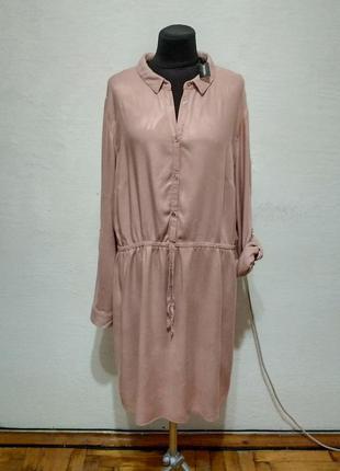 Стильное платье - туника рубашечного кроя большого размера