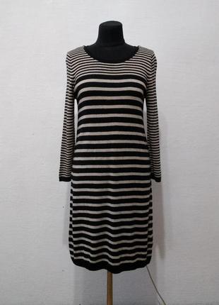 Стильное платье в полоску большого размера
