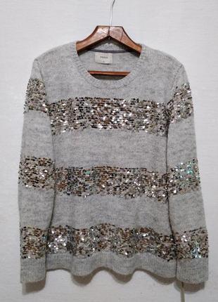 """Стильный свитер """" блискавична """" большого размера"""