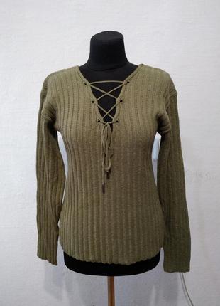 Стильный трендовый свитер большого размера