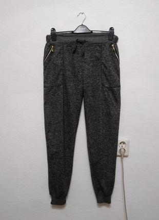 """Стильные спортивные штаны """" меланж """" большого размера"""