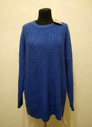 Стильный модный теплый свитер большого размера
