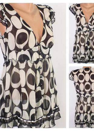 № 17/11  женская блуза next   в отличном состоянии.шифон.  раз...