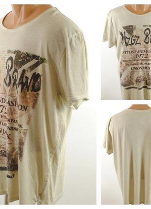 № 26/9  мужская футболка mzgz brand размер 54/56 (xl)