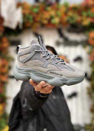 Зимние мужские кроссовки adidas yeezy boost 500 высокие