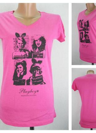 № 22/64  женская футболка playboy.  новая без бирки.  размер 4...