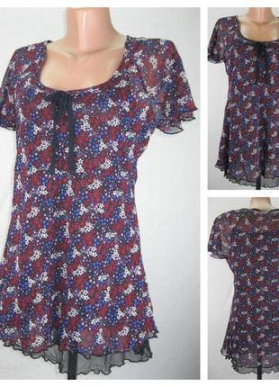 № 26/20  женская блуза m&s.  размер 44/46.  100% polyest