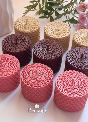 Набор 9 свечей миниатюрок из пчелиной вощины✨🌸