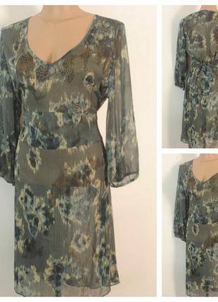 Шифоновое платье-туника avalanche размер  52/54