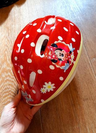Шлем велосипедный р.50-54 каска защитный микки маус  minnie mouse