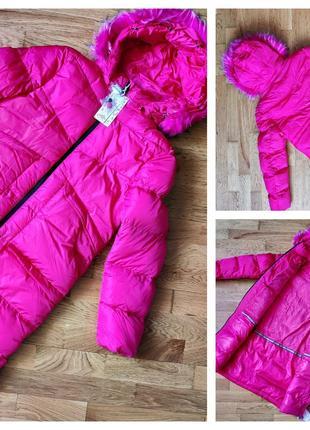Куртки-пальто зимняя на меху от grace. размер 16