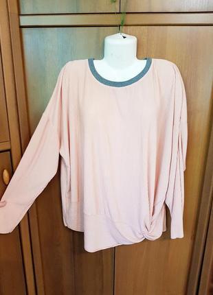 Трикотажная блузка-плиссе размера 58-60. next