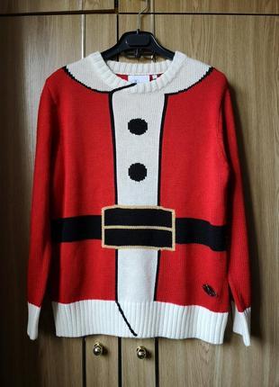 Новогодний свитер дед мороз