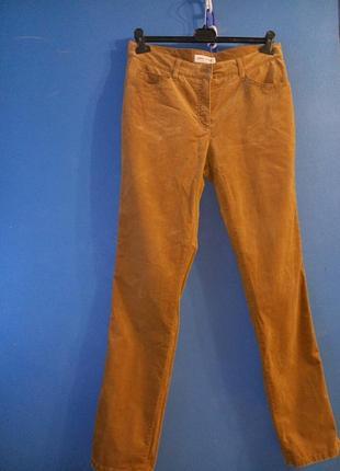 Бархатные рыжие брюки