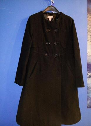 Зимнее шерстяное пальто
