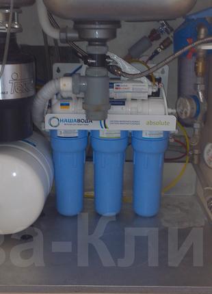 Установка проточного фильтра для питьевой воды