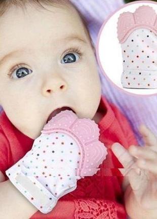 12-55 грызунок прорезыватель для молочных зубов малышей варежк...