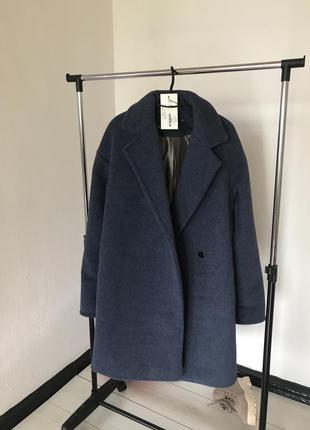 Тёплое зимнее пальто пояс шерсть