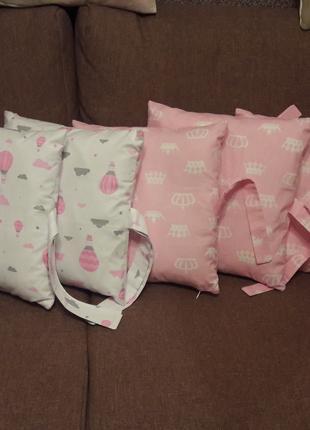 Пошив детских бортиков на кроватку, постельного белья