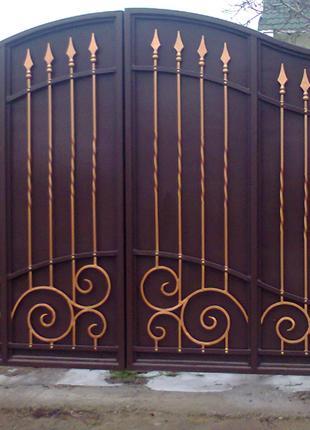 Изготовление металлических ворот в Николаеве.