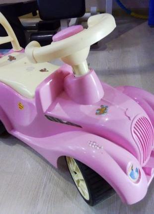 Машинка толокар каталка толкатель для девочки розовая Орион Orion