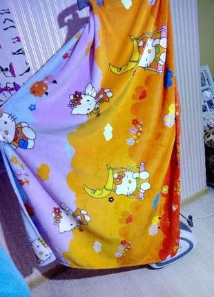 Плед радуга 100х140см, для детей можно покрывало на детскую кр...