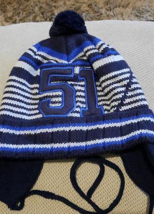 Теплая шапка на флисе (50 см)