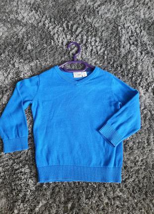 Синий свитер пуловер 3т