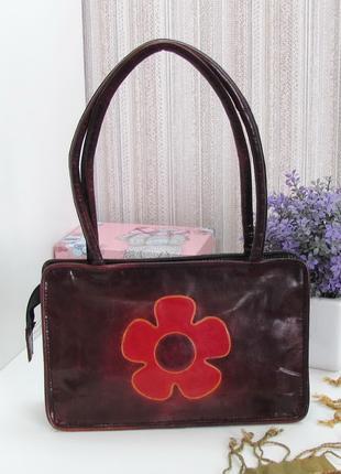 Интересная сумка, натуральная кожа, Индия.