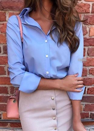 Рубашка софт с длинным рукавом, голубой