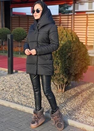 Тёплая зимняя куртка на силиконе, хаки, чёрный, бордовый