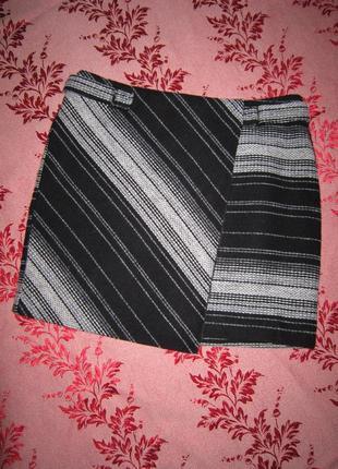 Теплая мини юбка с запахом