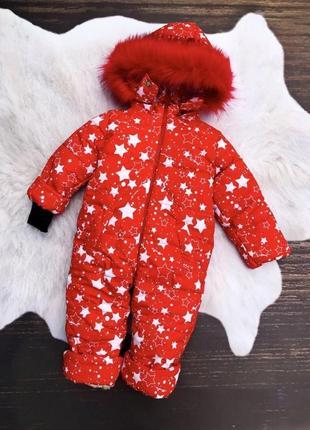 Зимний комбинезон на девочку, размеры 80-104 см